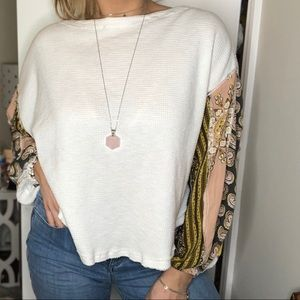 Free People balloon sleeve thermal